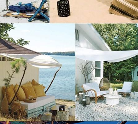 sombrillas para el verano hechas con tela