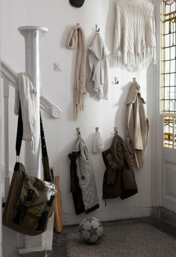 Ideas para colgar los abrigos