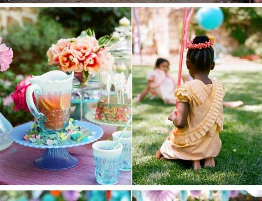 fiesta de verano con color