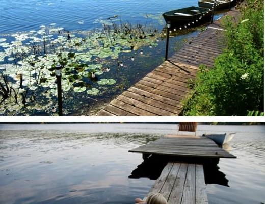 vacaciones en un lago