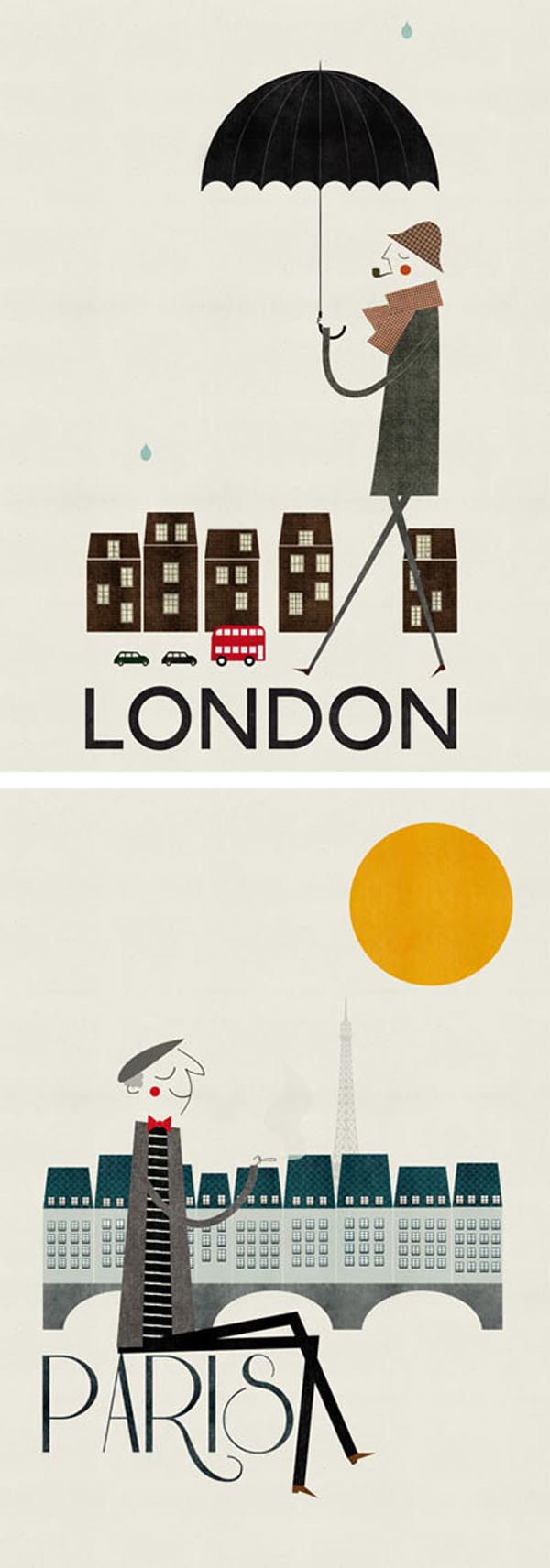 londres-paris posters