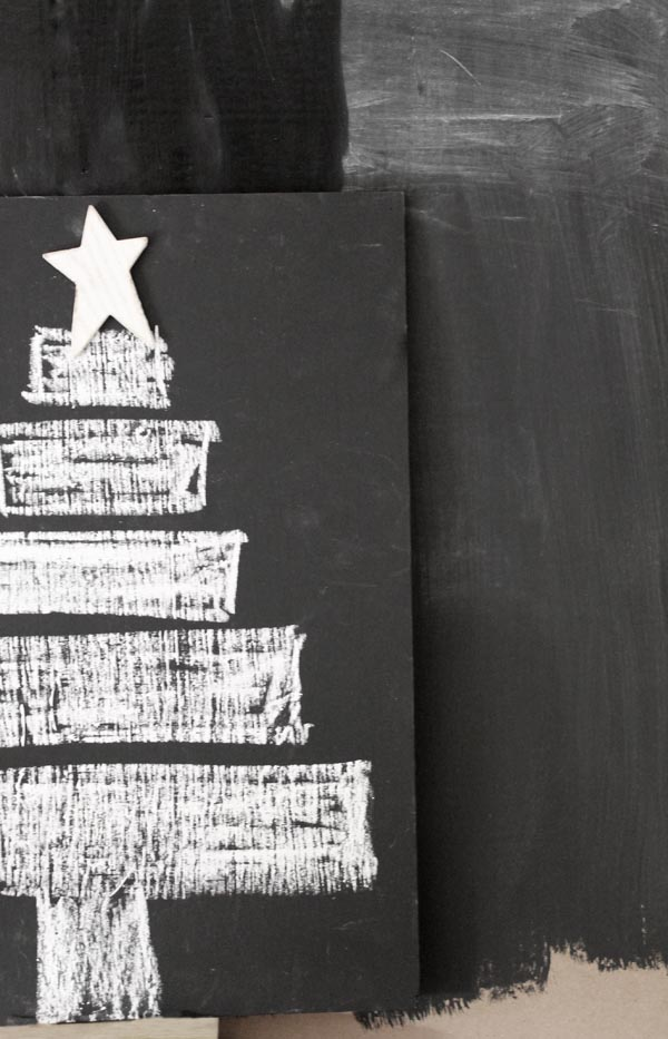 Decoraci n de navidad con pintura de pizarra escarabajos - Pintura pizarra imantada ...