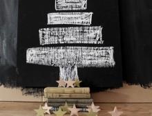 Decoración de Navidad: arbol de pizarra
