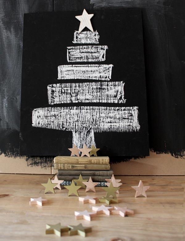 arbol navidad con pintura pizarra6