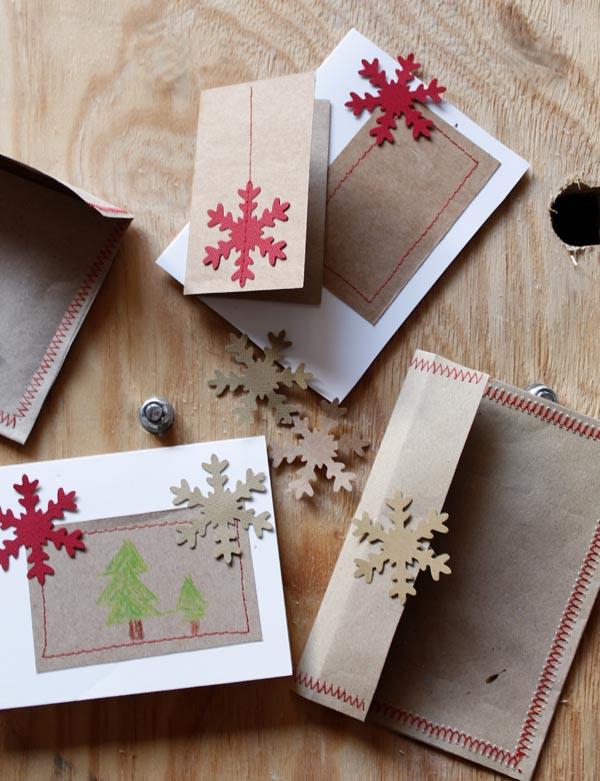 Haz tus tarjetas de navidad escarabajos bichos y mariposas - Tarjetas de navidad manuales ...