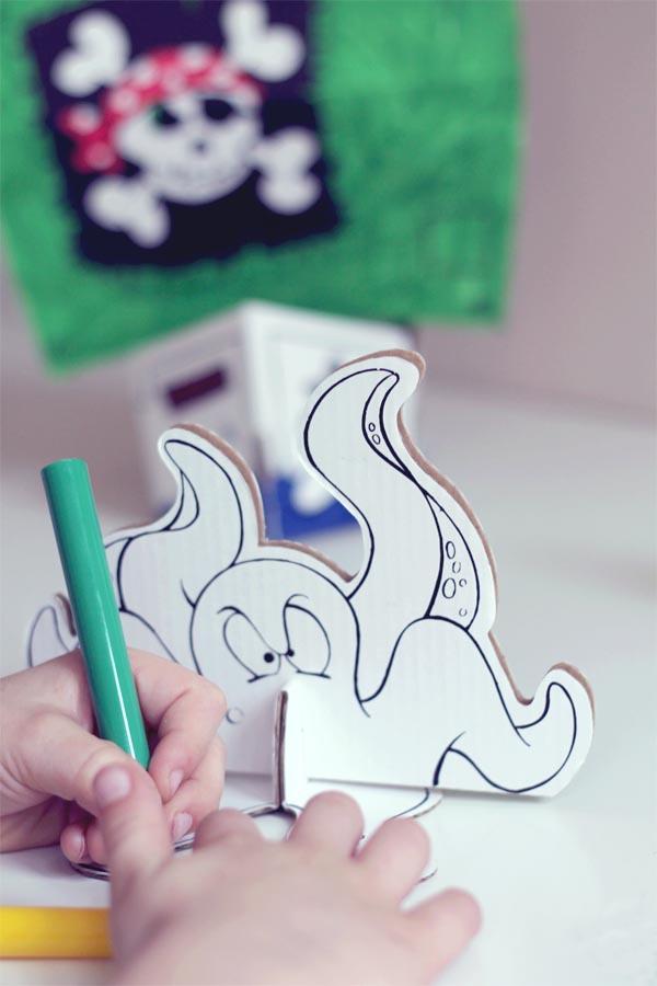 pintando pulpo