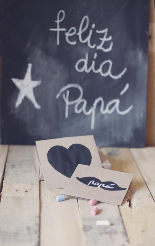 Tarjetas para el dia del padre con pintura de pizarra - Pintura de pizarra para pared ...