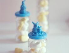Botes de cristal personalizados para Pascua