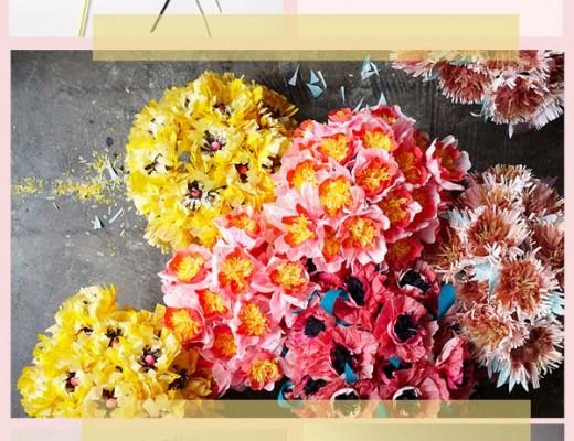 de papel flores