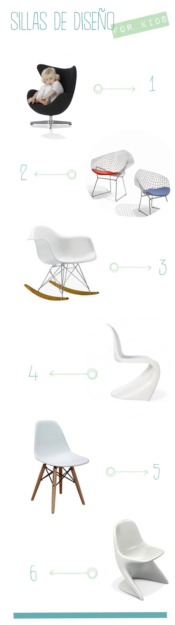 sillas de diseño para niños