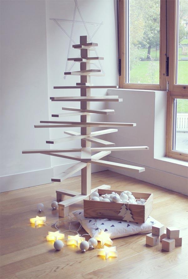 arbol de madera para navidad leroy merlin