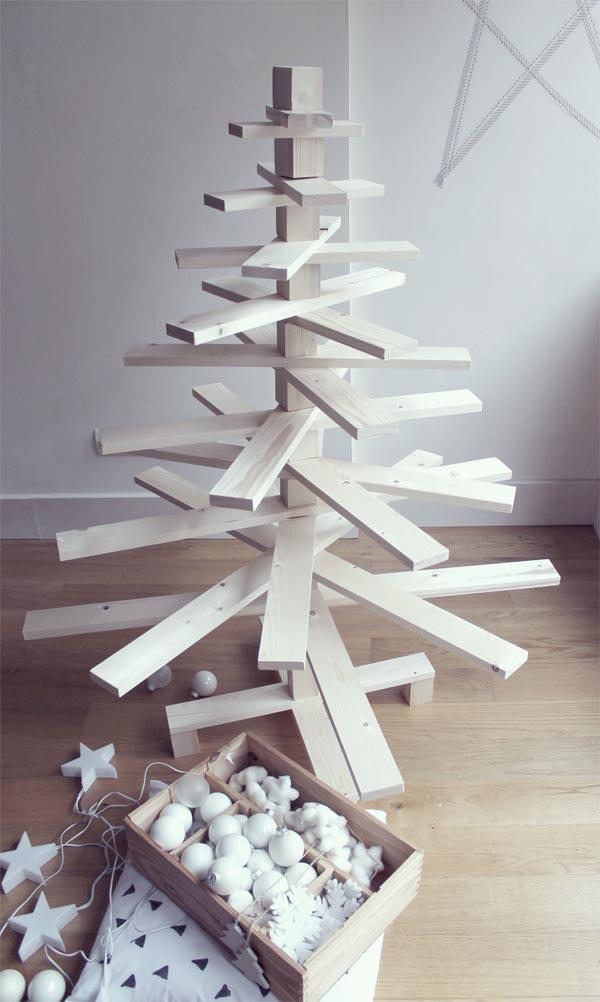 Arbol de madera blanca