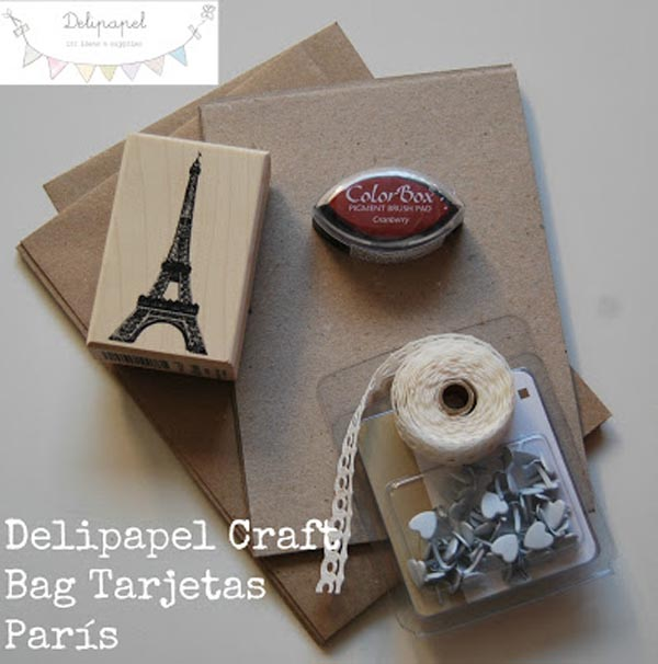 Delipapel Craft Bag Tarjetas Paris
