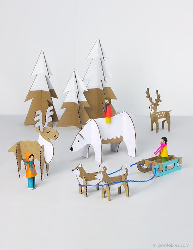 peg-doll-winter-cardboard-animals