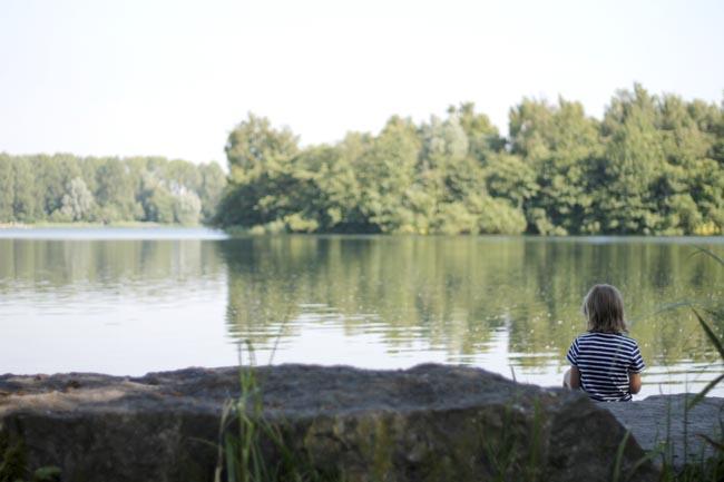 lago holanda con niños