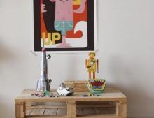 Una mesa de palés mini