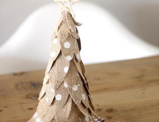 arbol porexpan decorado con telas