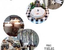 4 ideas para decorar la mesa de Navidad