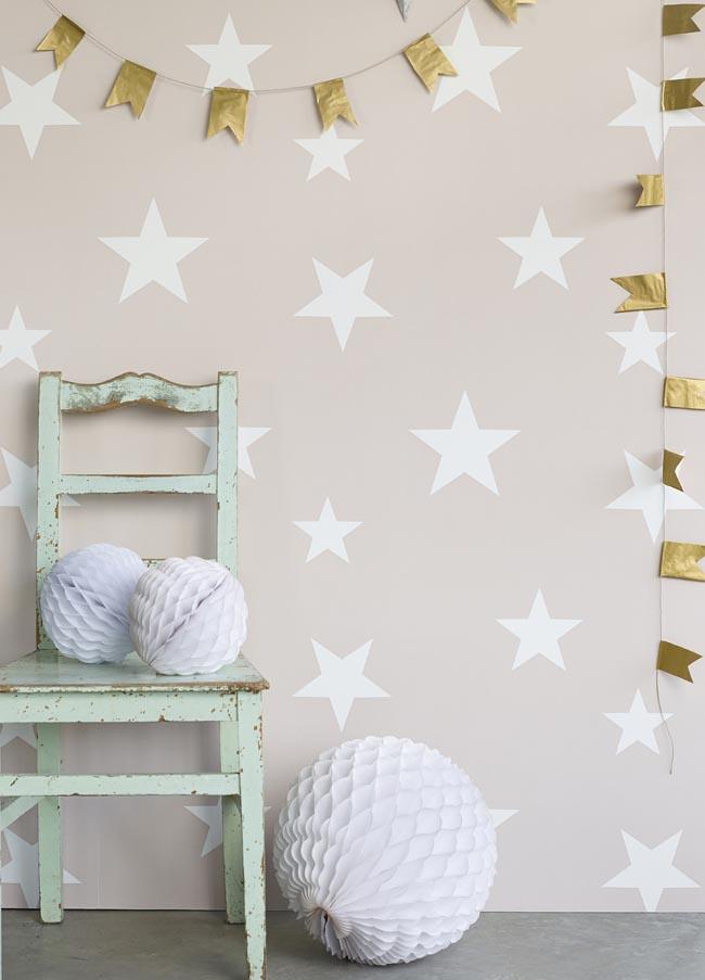 Hibou Home_Stars wallpaper_Blush_HH00801_a