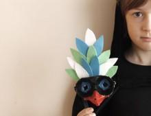 DIY: máscara hecha con huevera