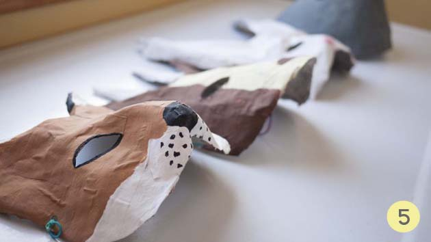 mascaras papel mache