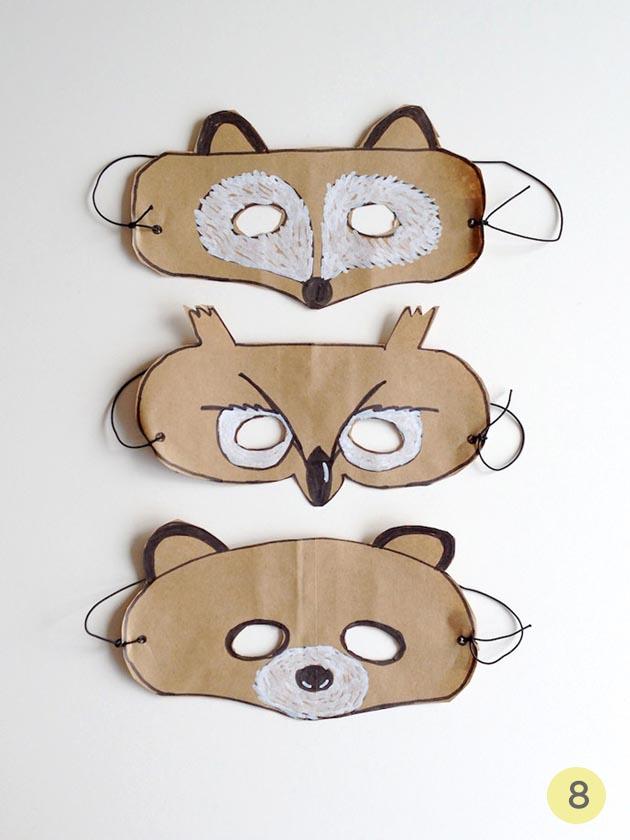 mascaras papel niños carnaval
