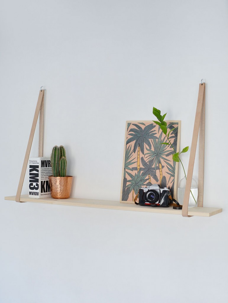scandi-inspired-leather-strap-shelf