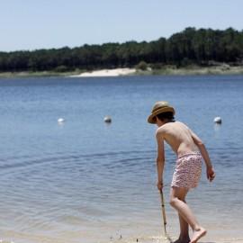 Portugal con niños: Lago de Ervedeira