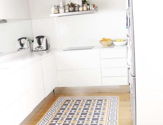 alfombra hidraulica cocina