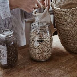 Tupper y tarros de cristal. Evitar el plástico en el almacenaje de comida.