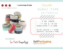 Taller washi tape en familia en Yusica bags&baby