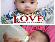 Banner solidario: Love without boundries
