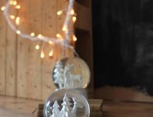 Decoración de Navidad: corazón de luz