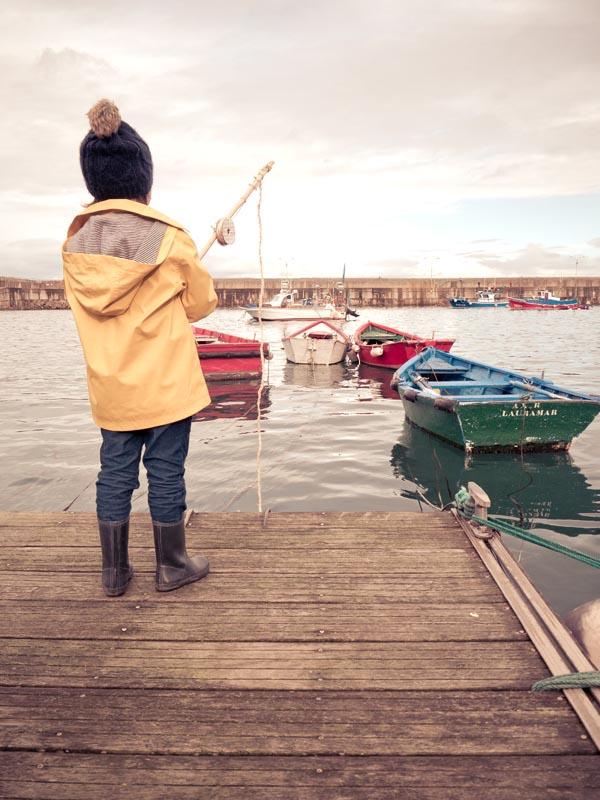 pescando puerto Cudillero