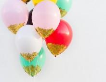 Decorar los globos de fiesta!