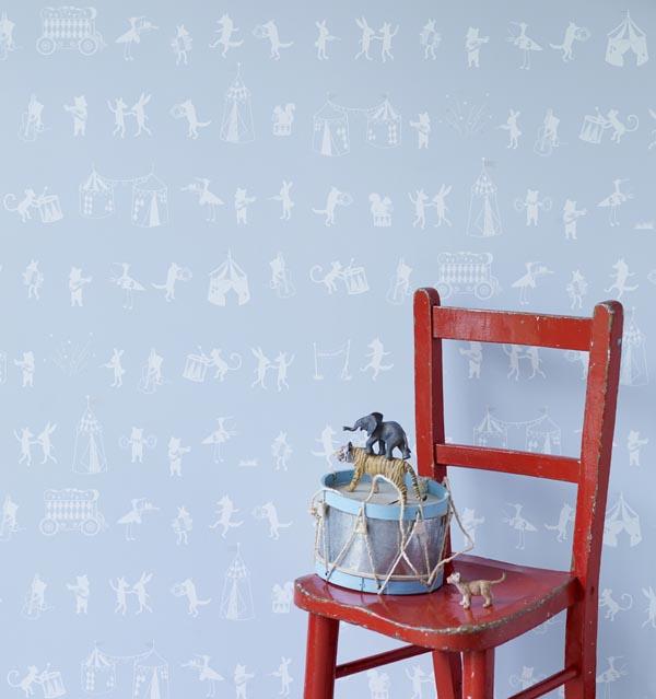 Hibou Home_Animal Parade wallpaper_HH00503_Pale Sky_low res