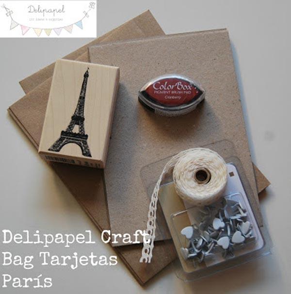 Delipapel Craft Bag Tarjetas Paris