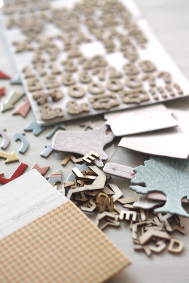 material scrapbooking