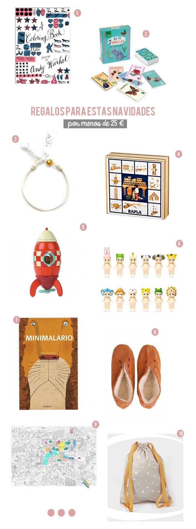 regalos para niños por debajo de 25 euros