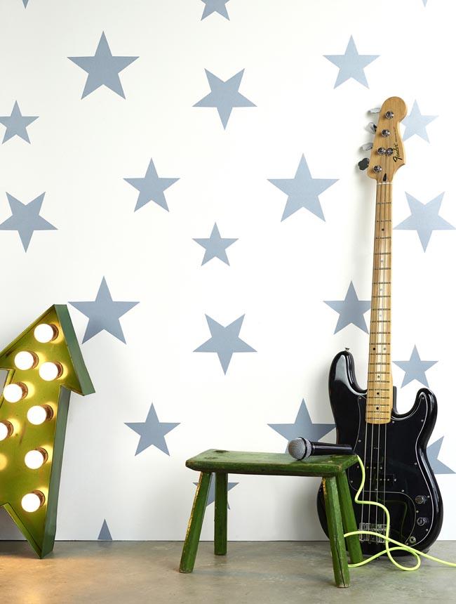 Hibou Home_Stars wallpaper_Stellar Blue_HH00803_a
