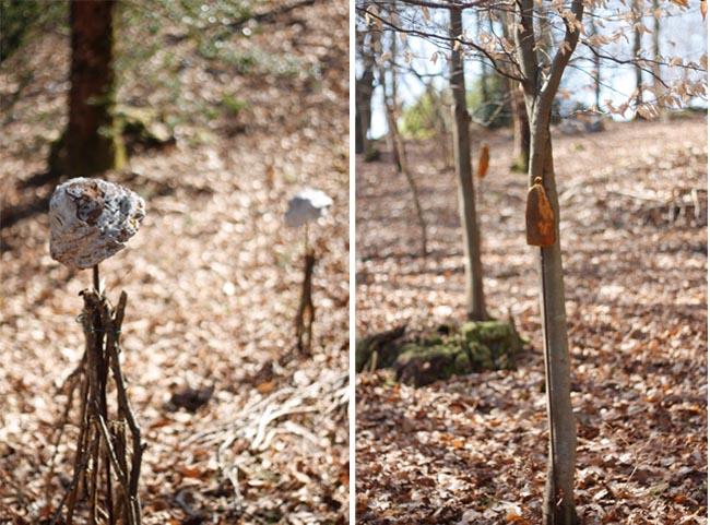 esculturas en bosque coll