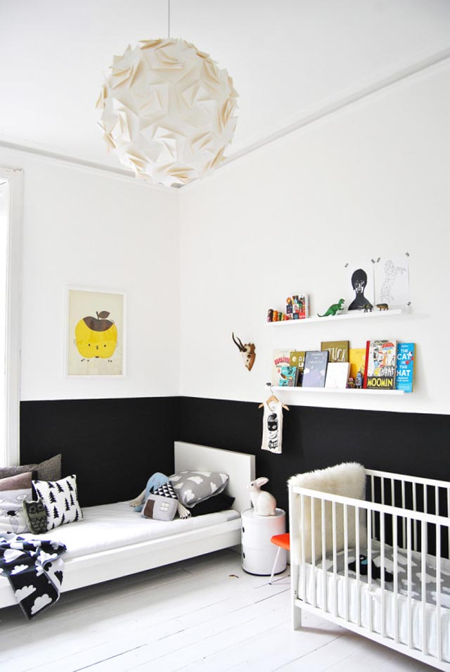 black-and-white-half-painted-wall-kids-room-550x821