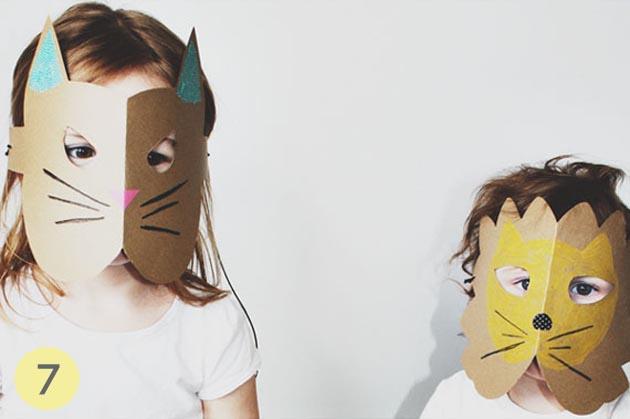 mascara carton niños
