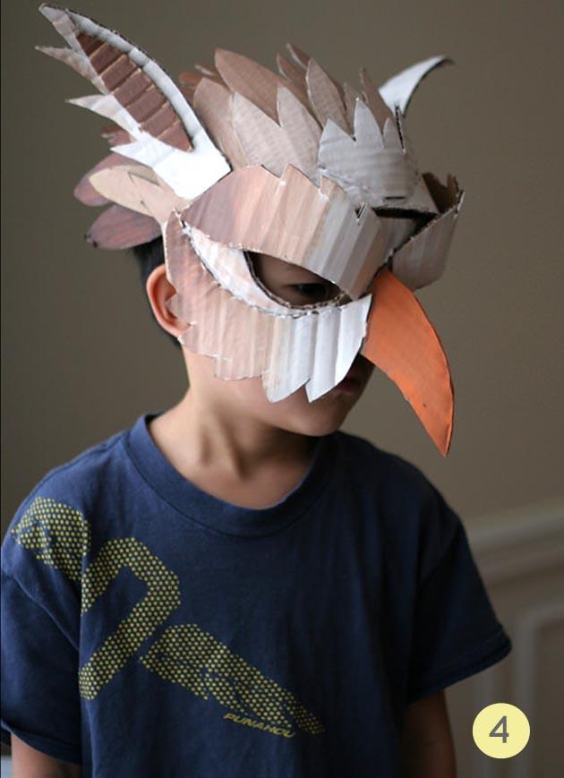 mascara pajaro carton