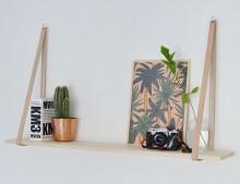 estanterias cuero+madera