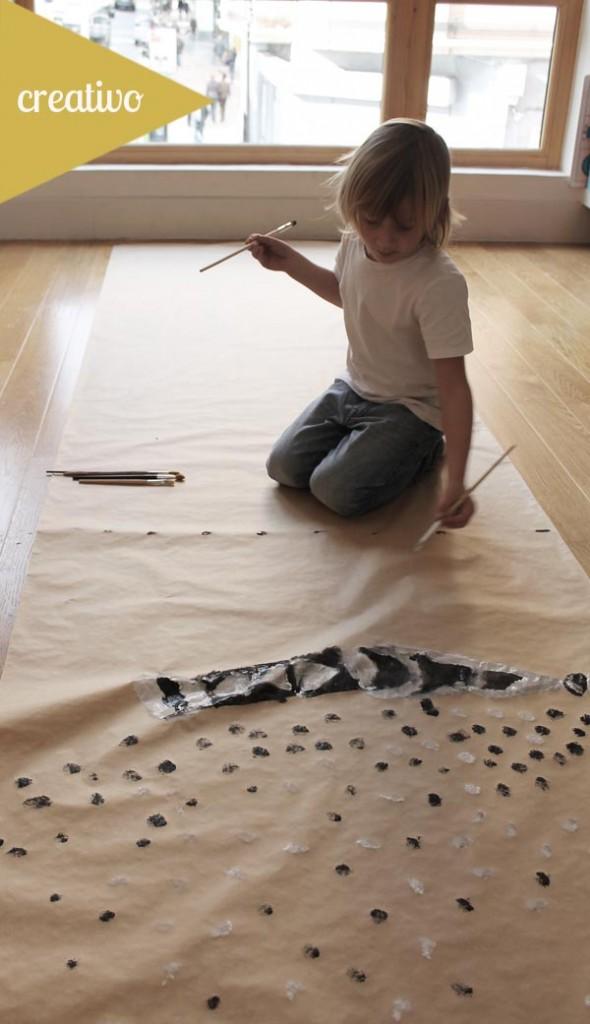 pintar-papeles-regalo-dibujos-niños-creativo